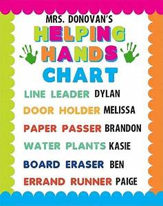 Classroom Conduct Chart Create A Helping Hands Chart Poster Classroom Poster