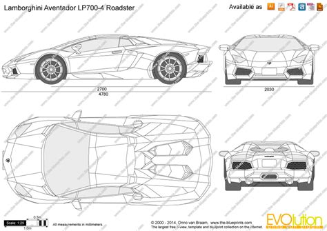 lamborghini aventador lp700 4 roadster blueprint lamborghini aventador lp700 4 roadster vector drawing