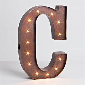 lone elm studios lighted metal letter 12 inch 92669a With 12 inch metal letters