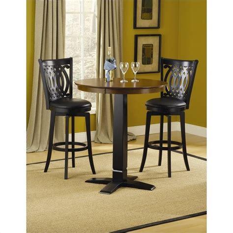 hillsdale dynamic designs pub table in black 4975ptbblk