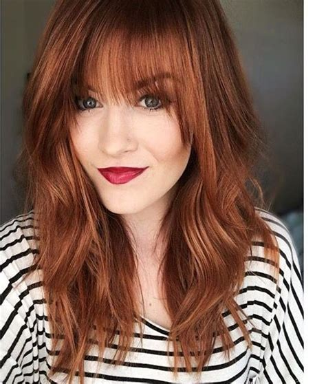 wonderful hairstyles  ginger hair trendy red