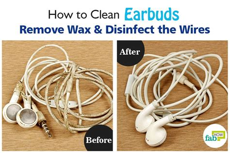 how to disinfect how to clean earbuds remove wax and disinfect the wires
