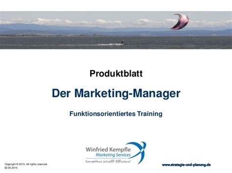 marketing qualifications der marketing manager f 252 r das strategische