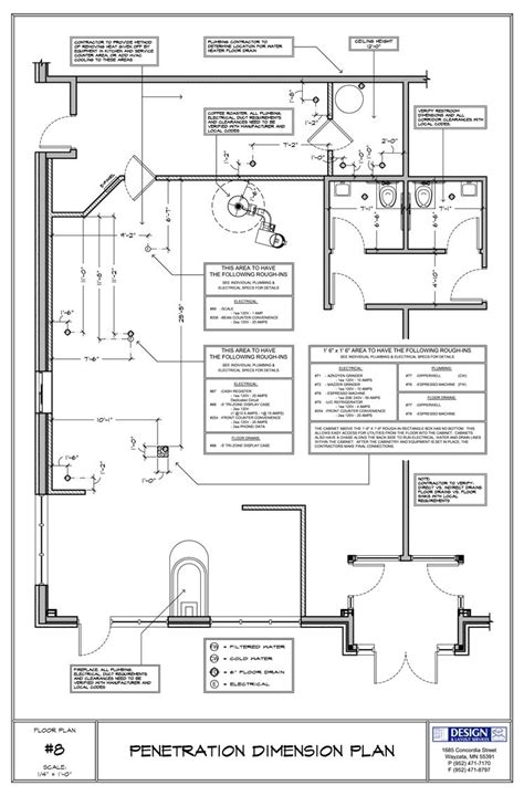 Restaurant Kitchen Measurements by Cafe Floor For Equipment Cocinas Rest 243