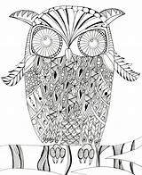 Owl Coloring Intricate Printable Pages Mandala Judyclementwall Favecrafts sketch template