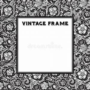 Cadre Noir Et Blanc : le baroque noir et blanc de cadre de vecteur photos libres de droits image 38575558 ~ Teatrodelosmanantiales.com Idées de Décoration