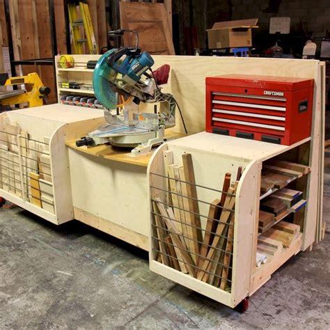 combo miter  station lumber rack