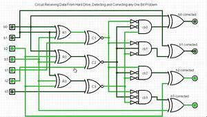 Hamming 7 4  Receive Circuit Demo