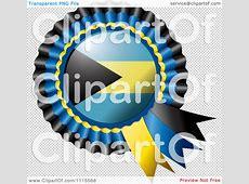 Clipart Shiny Bahamas Flag Rosette Bowknots Medal Award