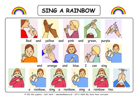color sign language i can sign a rainbow with bsl sign language