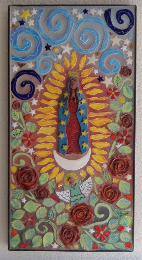 mosaic  lady  guadalupe original art  carol
