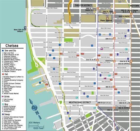 chelsea manhattan map map  chelsea manhattan  york