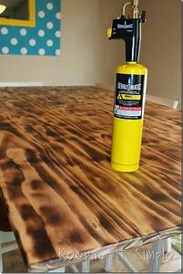 DIY-Dining-Table-With-Burned-Wood-Finish #Bernzomatic (29