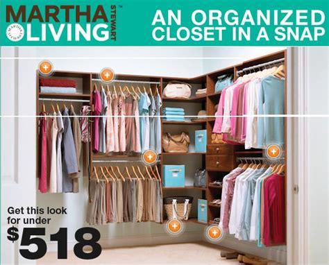 master closet organization idea with martha stewart living