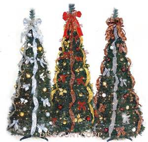 9 Ft Pre Lit Christmas Tree Walmart by 6 Ft Decorated Amp Pre Lit Collapsible Pop Up Christmas Tree