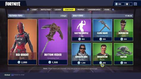 items   shop fortnite battle royale january