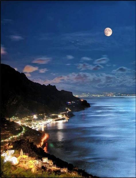 Amalfi At Night Italy Changing Your Life Stop