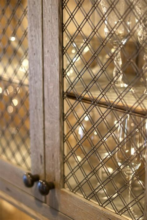 wire mesh grille inserts for cabinets trade secrets kitchen renovations part three cabinetry