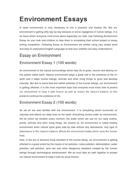 water pollution essays essay on pollution for kids