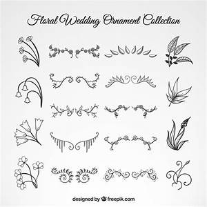 wedding floral ornament set vector free download With wedding invitation flower ornaments