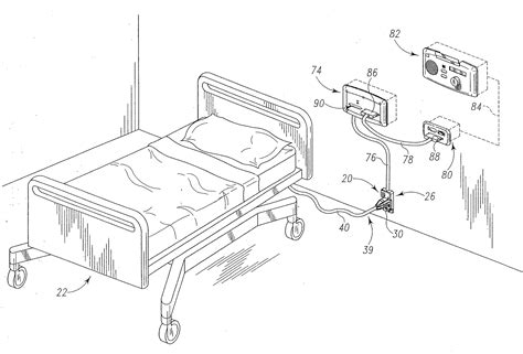 patent us20080224861 hospital bed wireless data