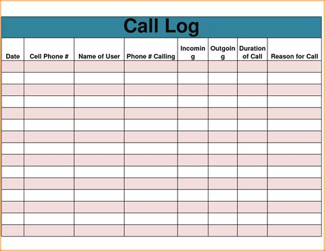 log template 6 phone log templatereference letters words reference letters words