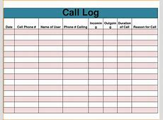 6+ phone log templateReference Letters Words Reference