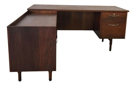 vintage l shaped desk vintage executive l shaped desk chairish