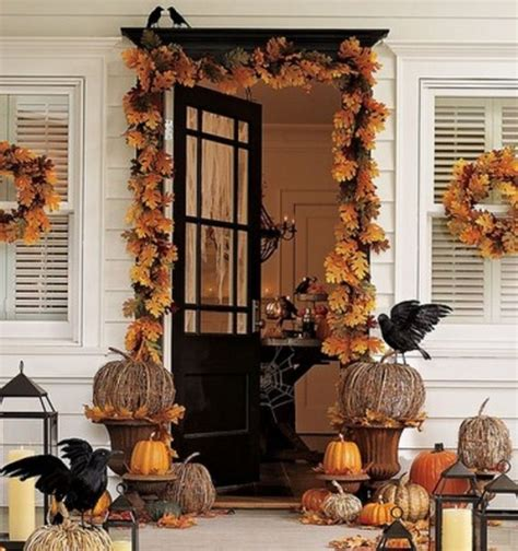 fall decorated porches fall decorating