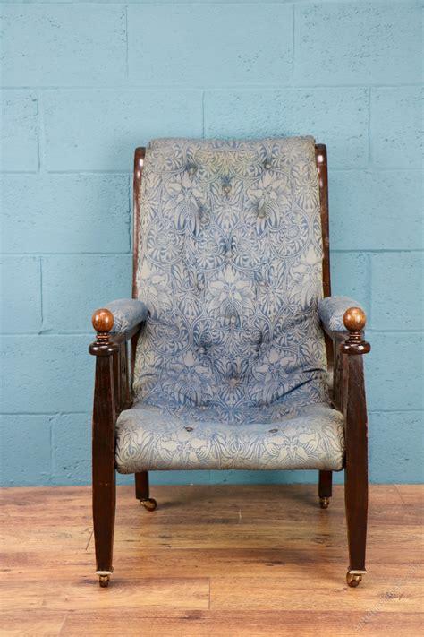chair  original william morris fabric antiques atlas
