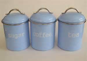ebay kitchen canisters enamel retro kitchen canisters assorted colours tea coffee sugar set of 3 ebay