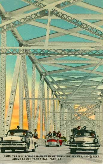 Traffic Across Main Span Sunshine Skyway Feet