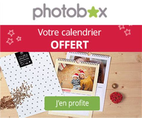 photobox un calendrier photo mural a4 offert hors frais de port maxibonsplans 174