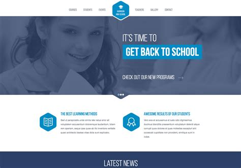 Free Responsive Website Templates High School Responsive Website Template