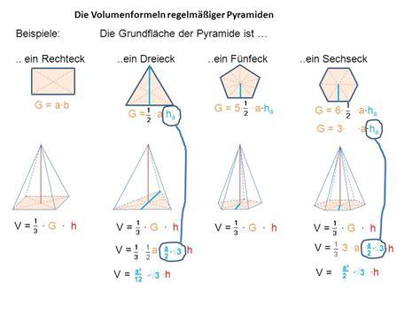 pyramide berechnen volumen rechner pyramide matheretter
