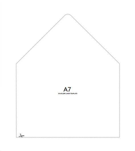 envelope liner template 9 envelope liner templates sles exles formats sle templates