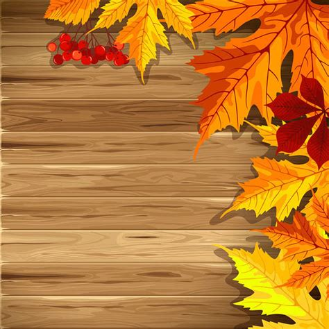 Autumn Leaves Fall Backgrounds Powerpoint by Wooden Fall Background With Leaves Gallery Yopriceville