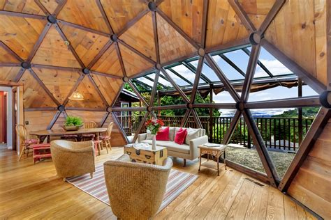 couple spent  years handcrafting  dream geodesic home