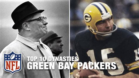 nfl top  dynasties  green bay packers youtube
