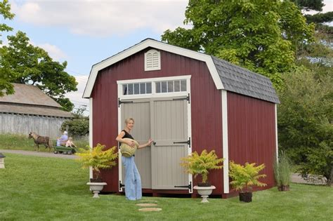 10 X 20 Wooden Storage Shed by Woodbury Colonial Wooden Outdoor Garden Shed Kit 10 X 20
