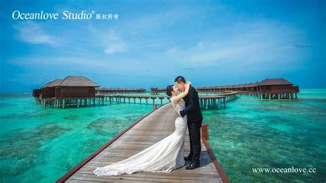 马尔代夫婚纱摄影照【双鱼岛】