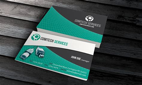 pc laptop peripheral business card template