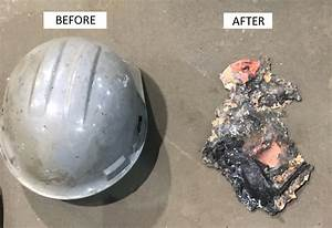 what an electric arc flash does to a hard hat With arc flash accident