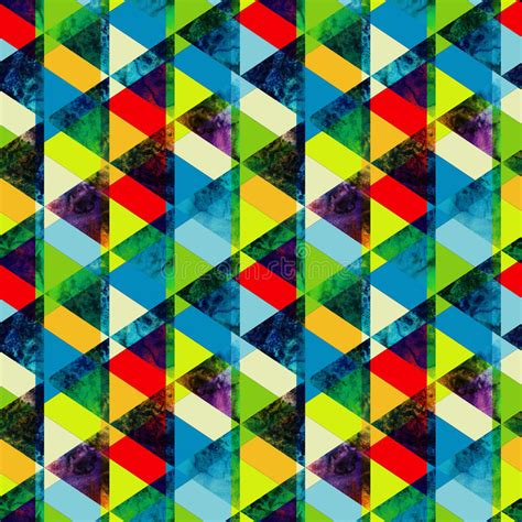 watercolor triangles seamless pattern modern hipster