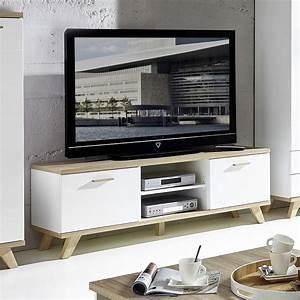 Meuble Tv Tendance : meuble tv chene massif contemporain ~ Premium-room.com Idées de Décoration