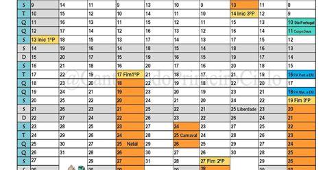 cantinho primeiro ciclo calendario letivo