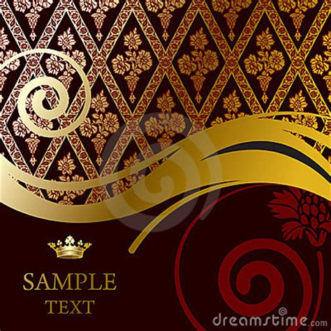 Baroque Powerpoint Template Free by Gold Baroque Background Royalty Free Stock Images Image