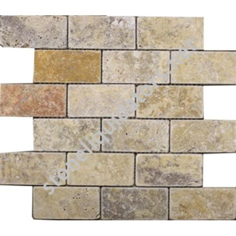 Scabos Travertine Subway Tile by 2 Quot X 4 Quot Scabos Travertine Subway Tile Tumbled