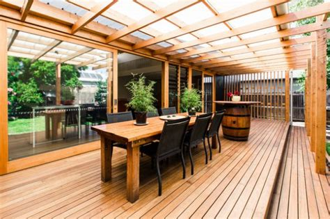 Swimming Pool Wood Deck