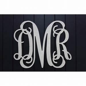 unpainted 18quot 3 letter monogram With 3 letter monogram